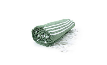 Hamamdoek Olive-White
