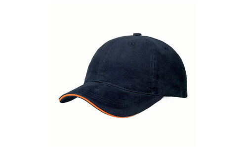 KC- Sandwich cap navy-orange